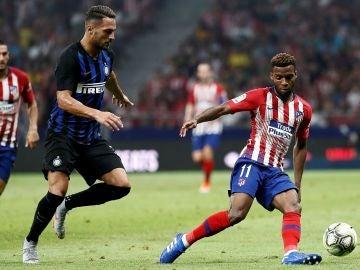 Partido entre el Atlético y el Inter de MIlan