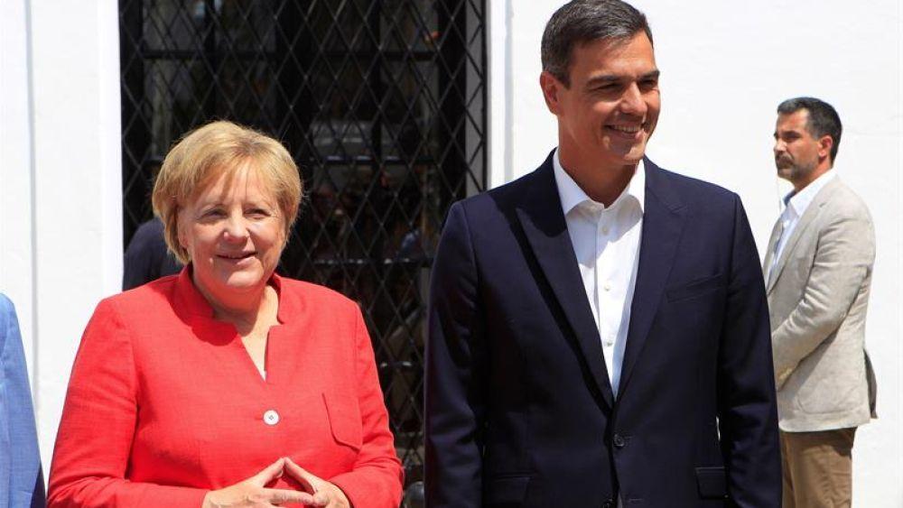 Ángela Merkel y Pedro Sánchez