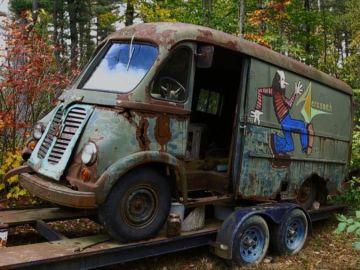 Imagen de la furgoneta abandonada de Aerosmith
