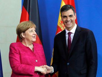 Angela Merkel y Pedro Sánchez