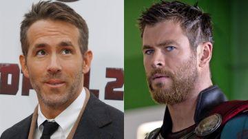 Ryan Reynolds y Chris Hemsworth quieren intercambiar sus papeles