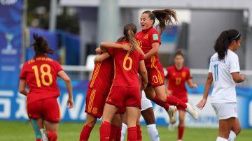 Selección Española Sub-20 celebrando un gol