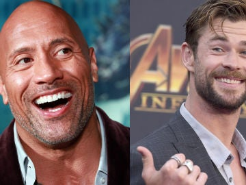 Dwayne Johnson y Chris Hemsworth