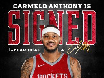 Los Rockets hacen oficial el fichaje de Carmelo Anthony