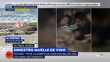 """Un testigo relata cómo vivió el dessumbe del muelle de Vigo: """"El estado de las tablas días anteriores no se veían bien"""""""