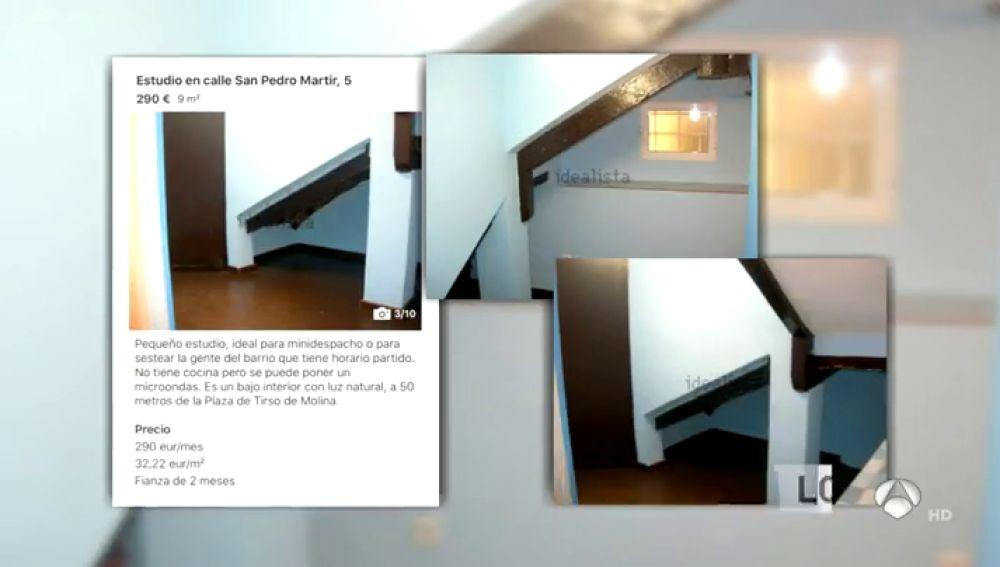 """Un piso para """"echarse una siesta"""", la descripción del anuncio de un espacio de 9 metros que se alquila por 300 euros"""