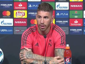 Sergio Ramos responde a las preguntas de los medios