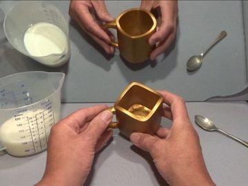 Ilusión óptica de la taza dorada