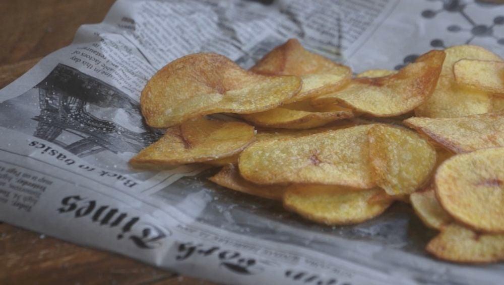 Así de bárbaras quedan las patatas fritas.