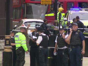 Varios heridos en Londres tras estrellarse un vehículo contra las barreras del Parlamento británico