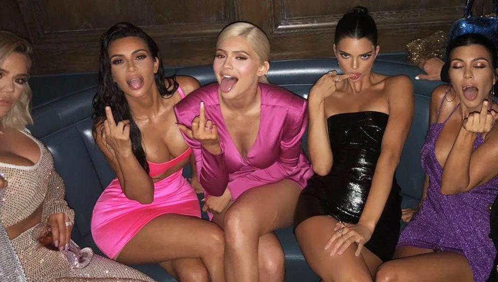 Las hermanas Kardashian-Jenner en el cumpleaños de Kylie