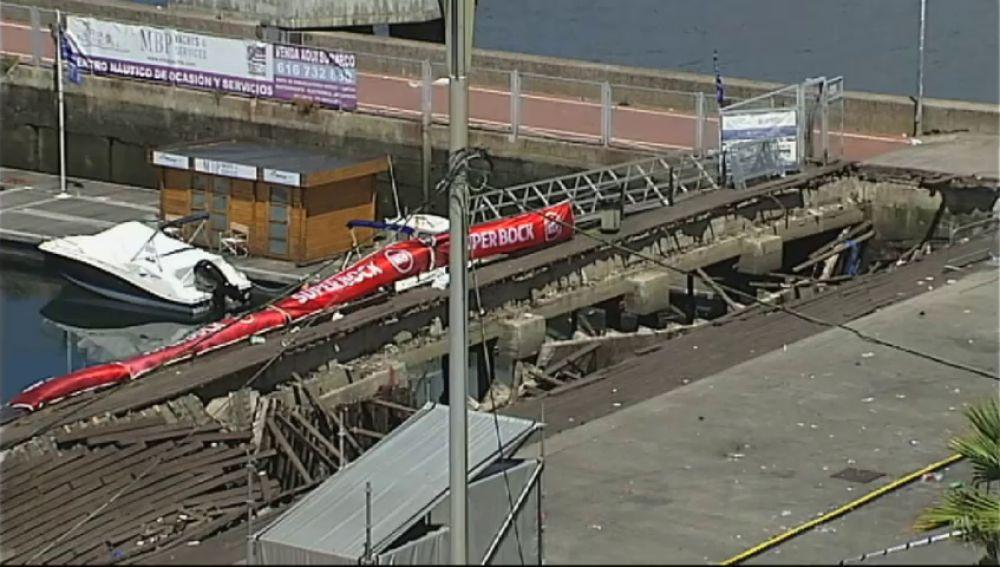 Los usuarios del puerto de Vigo consideran que el derrumbe se podía haber evitado