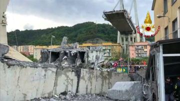 El Gobierno italiano exige dimisiones en la concesionaria de mantenimiento del viaducto derrumbado en Génova