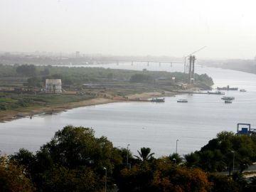 El río Nilo a su paso por Jartum (Sudán)