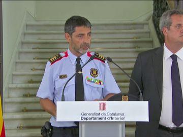 Rueda de prensa del jefe de los Mossos, Jusep Luis Trapero