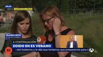 """Iolanda Ortiz, testigo en las Ramblas del atentado del 17-A: """"Cogí a mi hijo como pude por la espalda y lo lancé hacia atrás para refugiarnos"""""""
