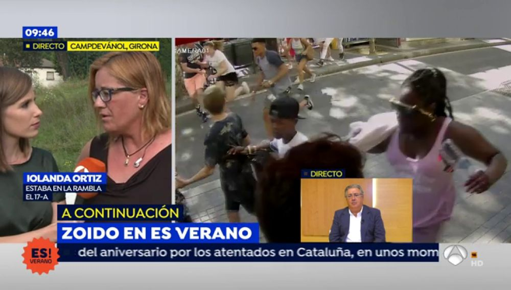 Iolanda Ortiz, testigo en las Ramblas del atentado