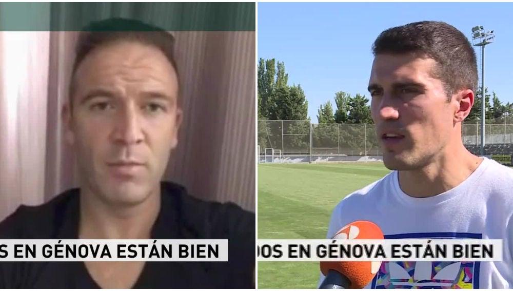 Diego Capel y Alberto Zapater hablan con Antena 3