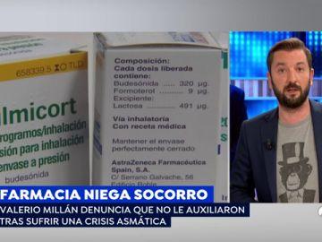 Un hombre denuncia que una farmacia no le socorrió durante una crisis asmática