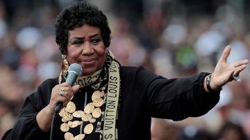 Foto de archivo de la cantante estadounidense Aretha Franklin