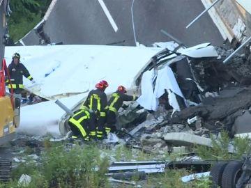 Así trabajan los equipos de rescate en Génova, expertos especializados en grandes catástrofes