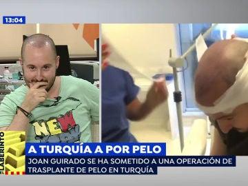 Un periodista, habitual de 'Espejo Público', nos muestra como se ha trasplantado pelo en su viaje a Turquía