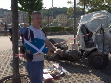 Un camionero superviviente en Génova: No sé cómo he podido salir con vida