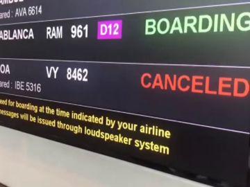 Las fuertes lluvias causan retrasos en el aeropuerto de Barcelona-El Prat