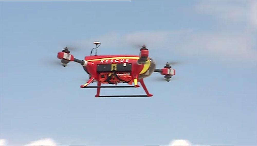 Drones de rescate que salvan vidas en las playas españolas