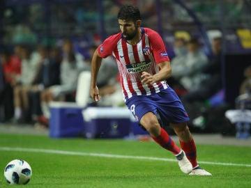 Diego Costa, en una acción con el Atlético