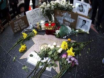 La estrella en el Paseo de la Fama de la cantante estadounidense Aretha Franklin