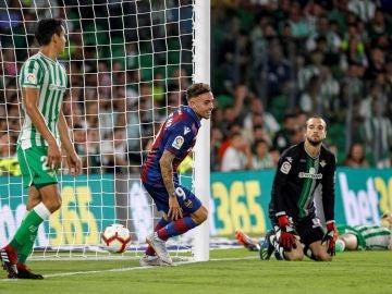 Roger Martí celebra su gol contra el Betis