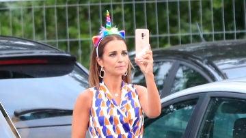 Paula Echevaría en el cumpleaños de su hija Daniella