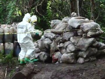Incautan un narcolaboratorio en la montaña con más de 50 toneladas del cártel de Sinaloa en México