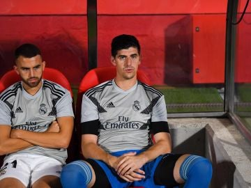 Courtois, en el banquillo contra el Girona