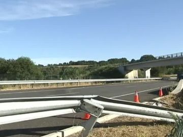 Carretera donde se ha producido el accidente en Lugo