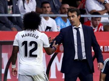Marcelo es sustituido en un partido del Real Madrid