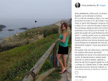 Lucia Extebarría en Instagram