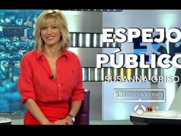 El lunes 3 de septiembre la presentadora Susanna Griso regresa al frente de Espejo Público
