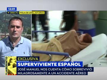 """El español que sobrevivió a una accidente de avión en México: """"El piloto nos salvó la vida a todos"""""""