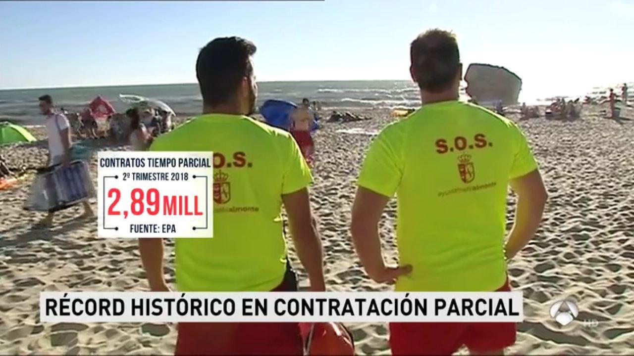 España alcanza el récord histórico de contratos a tiempo