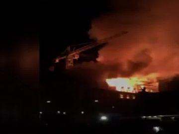 Incendio del edificio en Zurich