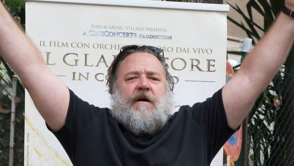 Russell Crowe en una de sus últimas apariciones públicas