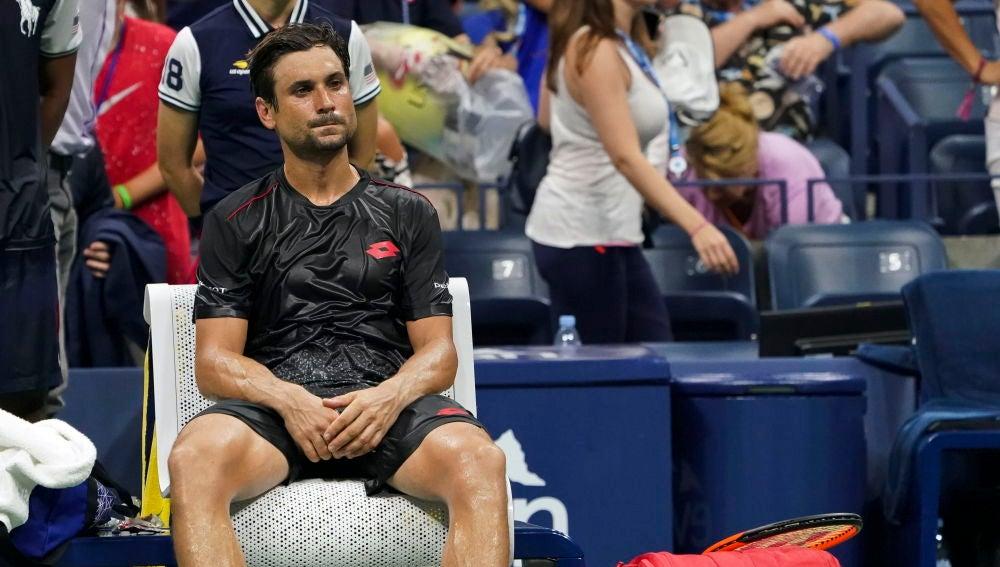 David Ferrer en el partido ante Nadal en el US Open