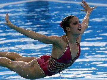 Tina Fuentes, en el mundial de natación de Montreal 2005