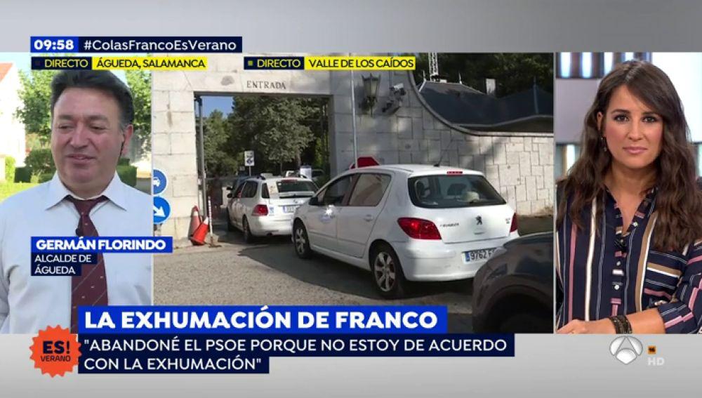 """El alcalde de Águeda, que quiere acoger los restos de Franco: """"Dejé el PSOE porque no estoy de acuerdo con la exhumación"""""""