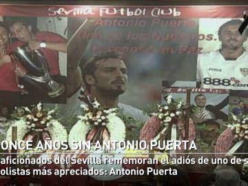 El Sevilla mantiene vivo el recuerdo de Antonio Puerta once años después