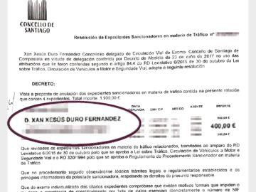 Un concejal de Podemos se autoanula una multa de 400 euros