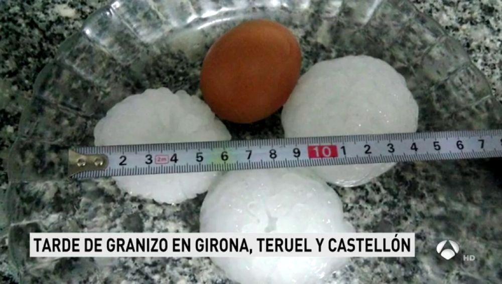 Bolas de hielo del tamaño de monedas de 50 céntimos: nuevas granizadas sorprenden a numerosos puntos de España