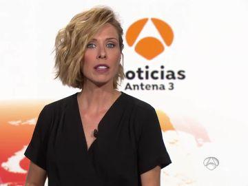 María José Sáez presentando Antena 3 Noticias 1